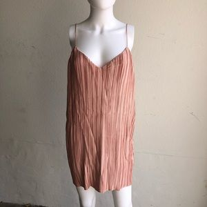 Primavera Mini Sunset Coral Swing Slip Dress